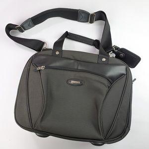 Timberland Leather & Canvas Messenger Laptop Bag